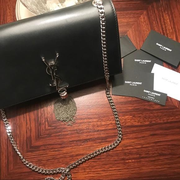 3ccd725f23 YSL Kate Bag black   silver. M 5b6c64bfe9ec896bbfc014cd